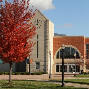 The DeVos Fieldhouse on an autumn day