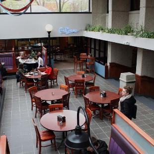 The Kletz is a dining area in the DeWitt Student & Cultural Center