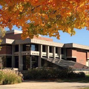 The DeWitt Student & Cultural Center on an autumn day