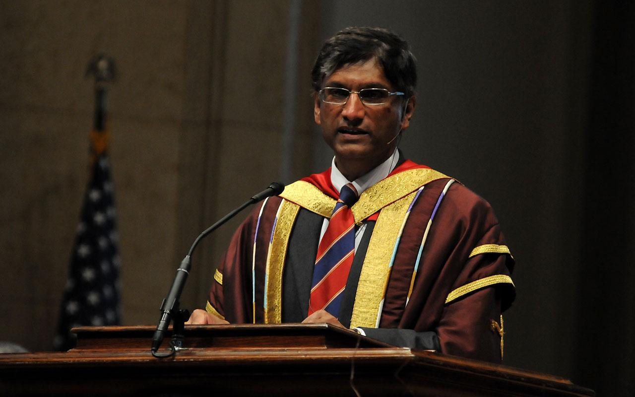 Dr.Gerald  Pillay, vice chancellor and rector of Liverpool Hope University gives sermon at the Baccalaureate Service in Dimnent Memorial Chapel.