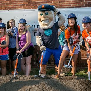Groundbreaking for the Jim and Martie Bultman Student Center.  Photo taken by Steven Herppich on August 31, 2015