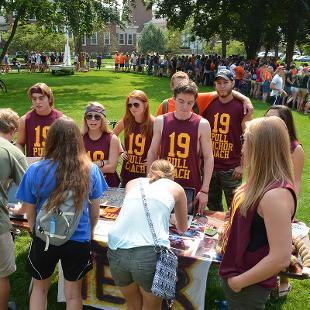 Activities Fair. Photo taken by Mitchell Conrad on August 31, 2015