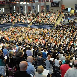 Opening Convocation. Photo taken by Tom Renner on August 30, 2015