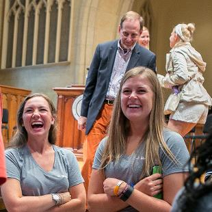 Orientation Event in Dimnent Memorial Chapel. Photo taken by Steven Herppich on August 29, 2015