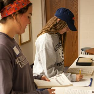 "Hope students participated in a service project at Third Reformed Church through the college's annual ""Time to Serve"" program.  Photo by Neil Travers on September 12, 2015"