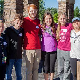 "Hope students participated in a service project at MediLodge of Holland through the college's annual ""Time to Serve"" program.  Photo by Neil Travers on September 12, 2015"