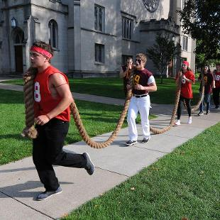 The Annual Pull Rope Run. Photo by Tom Renner on September 25, 2015