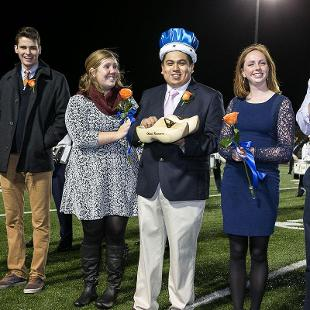 Senior  Jesus Romero was named 2015 Homecoming King. Photo by Steven Herppich on October 24, 2015
