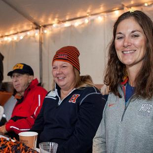H-Club VIP Tent at the Homecoming Game. Photo by Steven Herppich on October 24, 2015