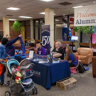 Homecoming Hospitality Center. Photo by Neil Travers on October 24, 2015