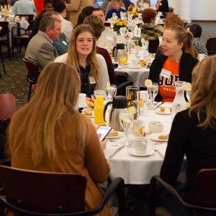 Family Weekend President's Breakfast. Photo by Neil Travers on October 31, 2015