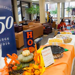 Family Weekend Resource Center. Photo by Neil Travers on October 31, 2015