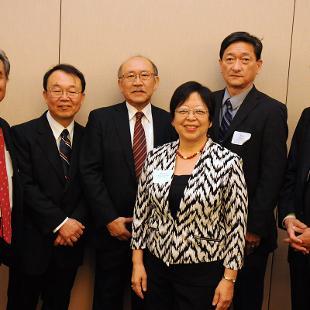 Makoto Kanda, Yasuo Matsubara, Hiroyoshi Udono, Margaret Matsumoto,Ryoji Noda, and Atsushi Yoshii. Photo by Tom Renner on November 4, 2015