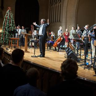 Gathering Lessons & Carols. Photo by Steven Herppich on December 13, 2015