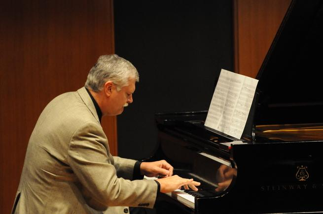 Professor Stephen Talaga performing in Inaugural Recital