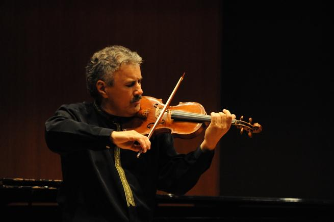 Professor Mihai Craoiveanu performing in Inaugural Recital