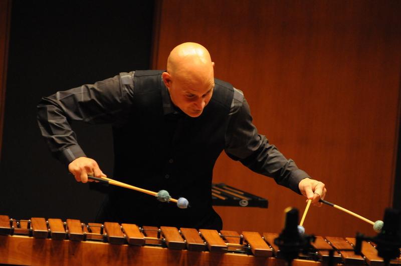 Dr. Christopher Fashun performing in Inaugural Recital