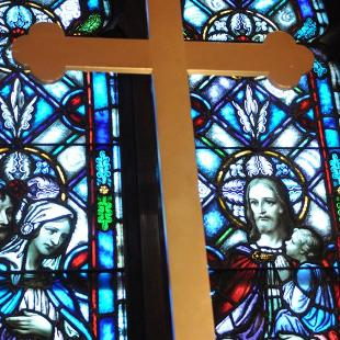 A cross in Dimnent Chapel