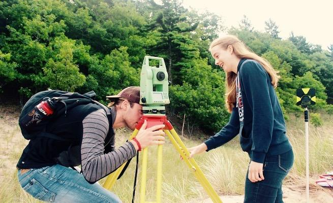 Students learn to use equipment to take measurements for real-world data