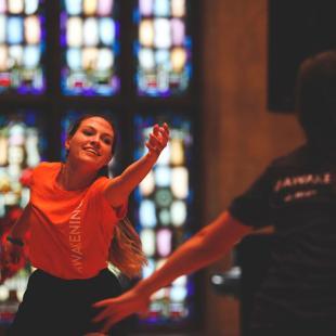 Worship dancer in Awakening dancing in Dimnent Chapel