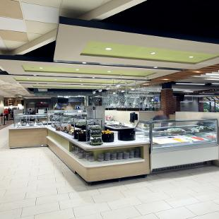 Inside of Phelps Dining Hall