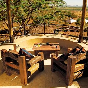 A beautiful view from a retreat lodge on safari.
