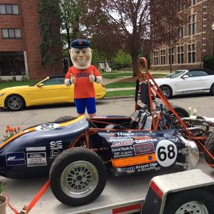 Dutch with the Hope College Formula 1 car
