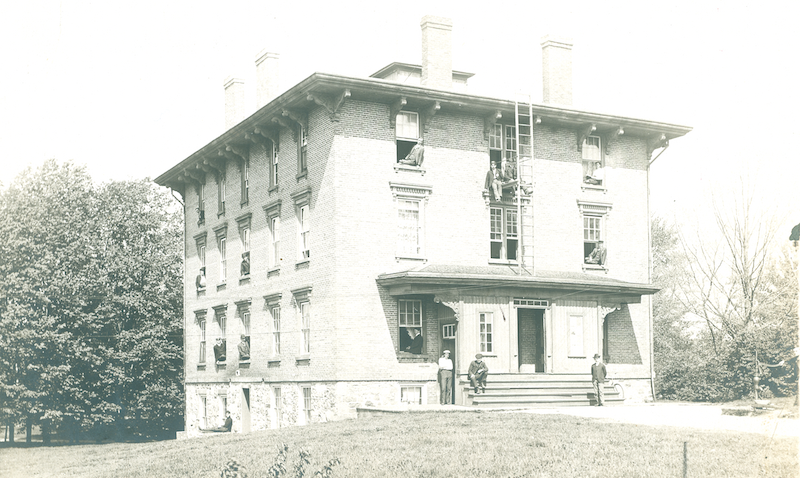 A historic photo of Van Vleck Hall