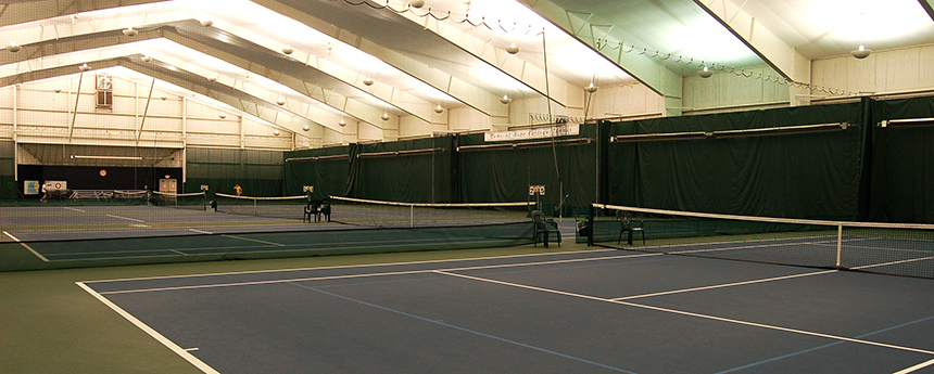 Inside of the Dewitt Tennis Center