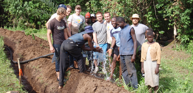 Engineers Without Borders working in Africa