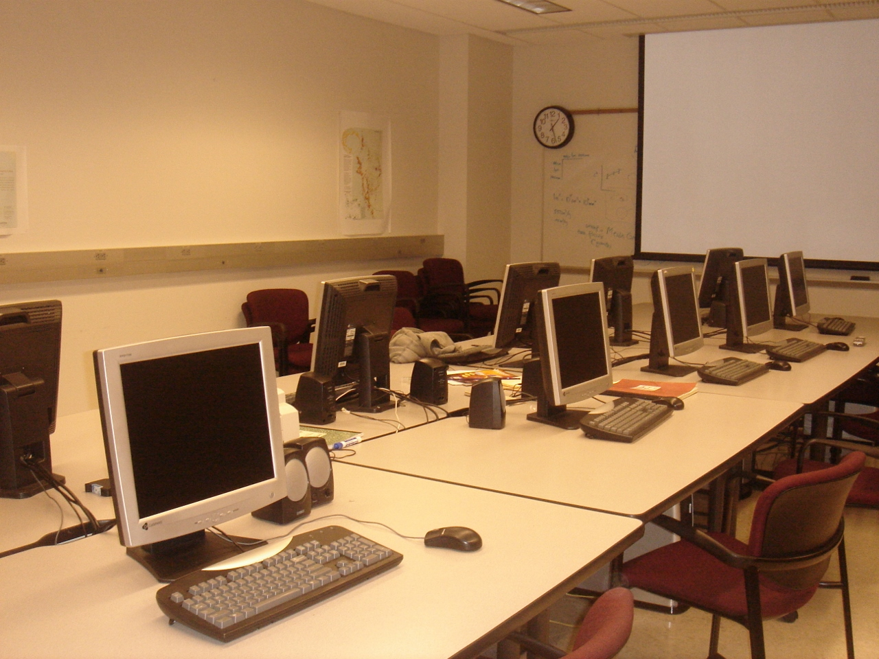 computers in the Geographic Information Systems lab