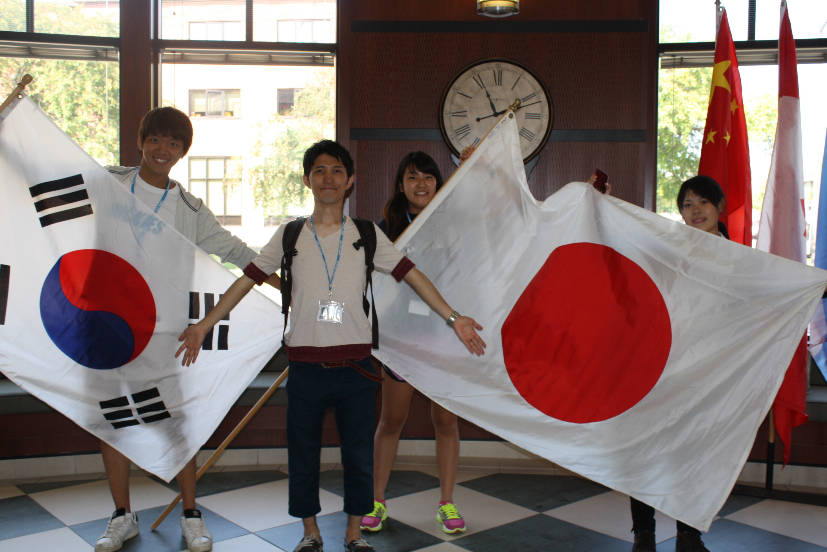 students from korea and japan