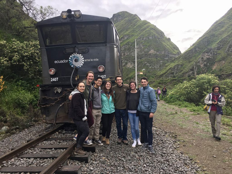 Caylee Schweppe and friends studying abroad