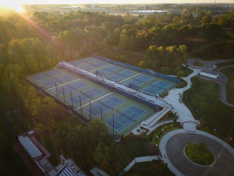 Outdoor Tennis Stadium