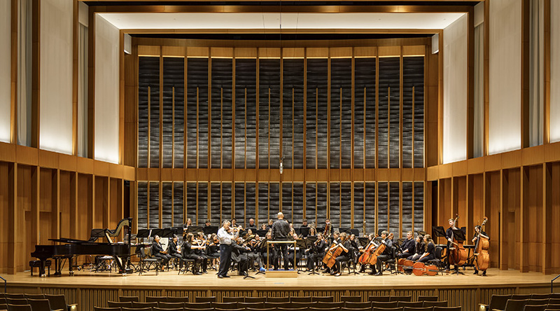 Orchestra Rehearsal in Hall