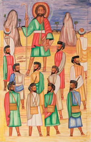 Jesus and His Apostles Went Up the Mountain (detail) by Qes Adamu Tesfaw