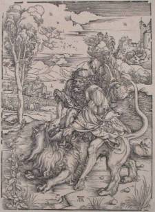 """Samson and the Lion,"" Albrecht Durer"