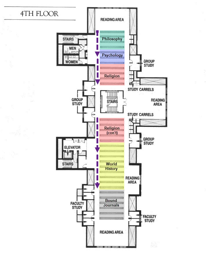 Map of the Fourth Floor