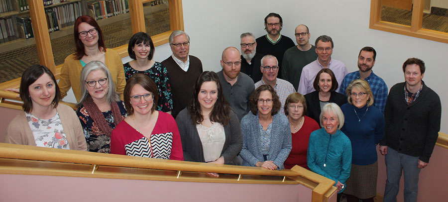 Group photo of library employees, April 2019
