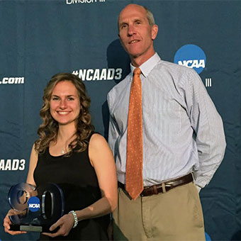 Michelle Kerr with Coach Mark Northuis