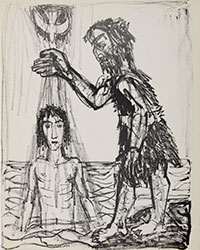 The Baptism of Jesus. Otto Dix. 1960. Lithograph. Hope College Collection.