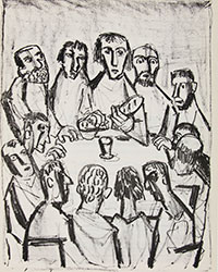 The Last Supper. Otto Dix. 1960. Lithograph. Hope College Collection
