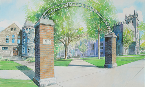 art drawing of the arch