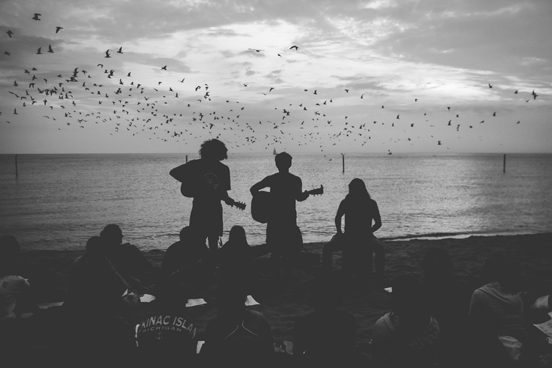 Awakening worship on the beach