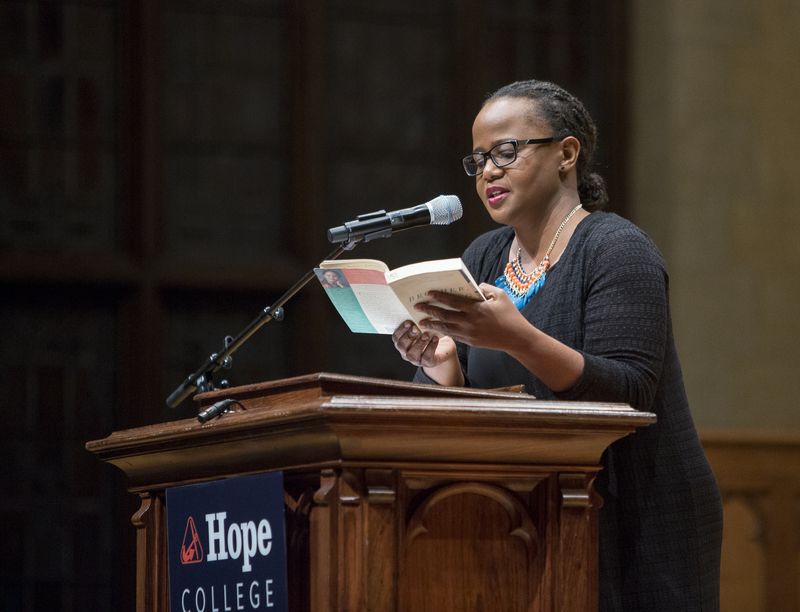 Edwidge Danticat reading at the Big Read