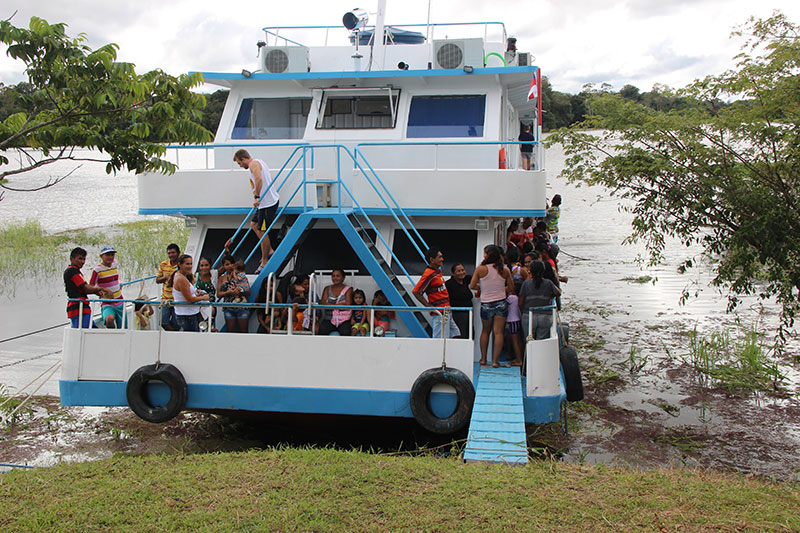 Houseboat in Manaus, Brazil