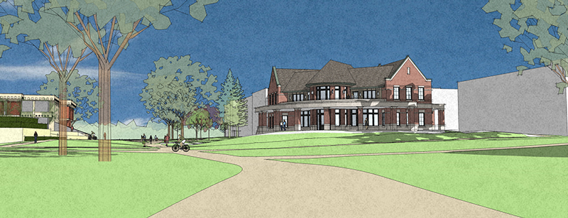 Architect rendering of Campus Ministries new building