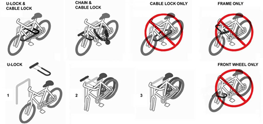 Tips on how to efficiently lock and secure a bicycle