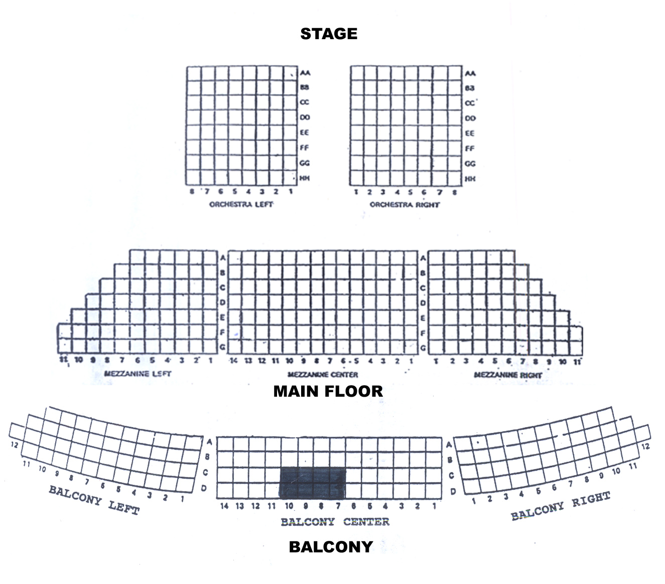 Tickets Events And Conferences. Knickerbocker Theatre. Seat. Devos Hall Seating Diagram At Scoala.co