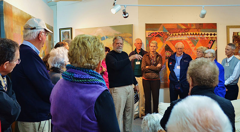 HASP members touring an art exhibit.